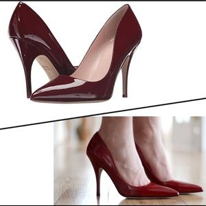 Kate Spade Licorice Too Pumps. Red Chestnut